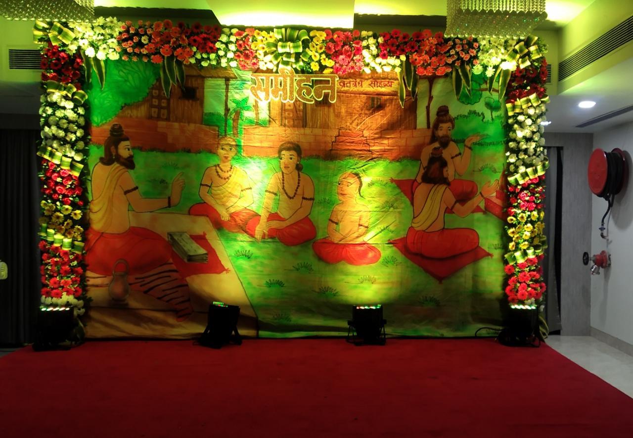 munj stage decoration